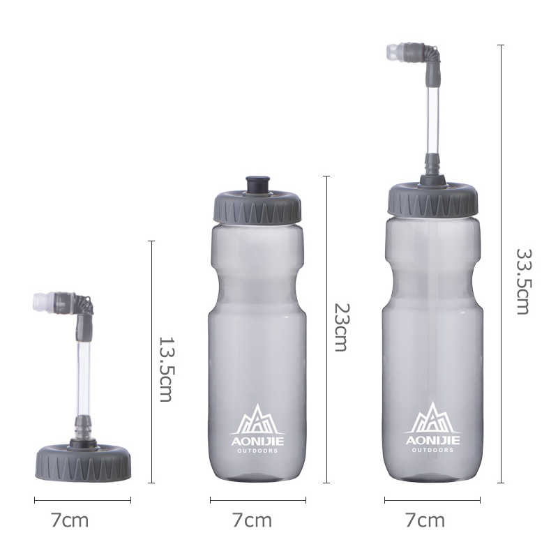 Sports Water Drinking Bottle BPA Free Plastic Running Cycling Gym Fitness 700ml
