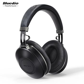 Bluedio H2 słuchawki Bluetooth ANC bezprzewodowy zestaw słuchawkowy HIFI dźwięk liczenie kroków gniazdo kart SD funkcja chmury inteligentna aplikacja tanie i dobre opinie Dynamiczny CN (pochodzenie) wireless 113dB 1 3m Słuchawki HiFi Liniowa do 32Ω Typ c USZCZELNIONE Memory Foam 57mm 16Ω