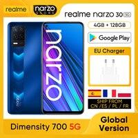 realme Narzo 30 5G RMX3242 Cellphone [Global Version] 4GB 128GB Dimensity 700 5G 6.5'' 90Hz FHD+ Screen 48MP AI Triple Cameras 1