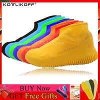 Overshoes de silicone reutilizáveis impermeáveis à prova de chuva men shoes cobre botas de chuva antiderrapante lavável unissex resistente ao desgaste reciclável