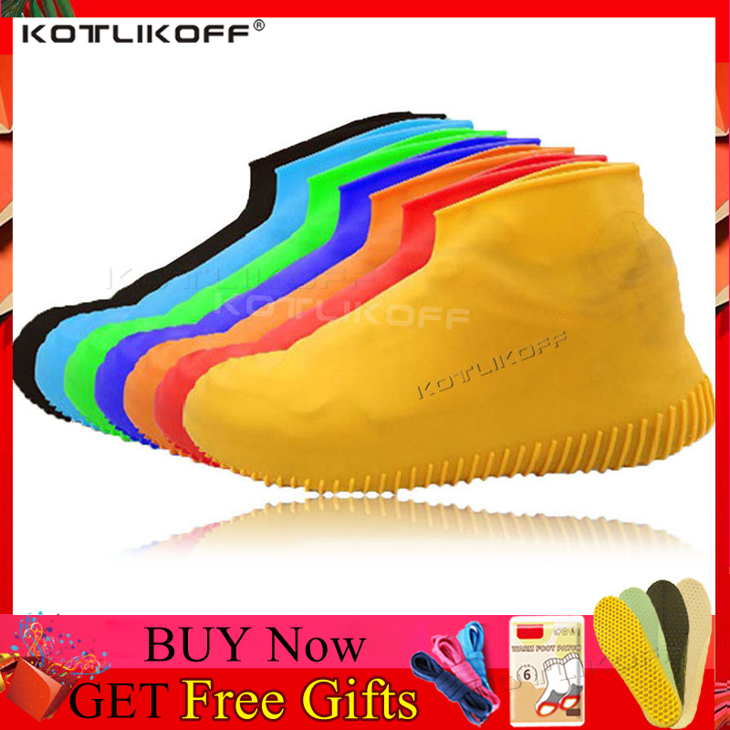Silicone Overshoes Reusable Waterproof Rainproof Shoes Covers Rain Boots Non-slip Washable Unisex Wear-Resistant Shoe Covers