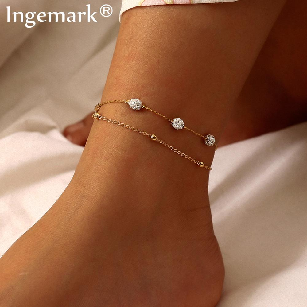 Bohemian Multi Layer Bead Anklets for Women Accessories Gold Color Vintage Barefoot Sandals Foot Leg Bracelet Charm Jewelry Gift