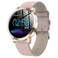 새로운 여성 스마트 시계 IP67 방수 강화 유리 활동 피트니스 트래커 심박수 모니터 시계 남성 Smartwatch