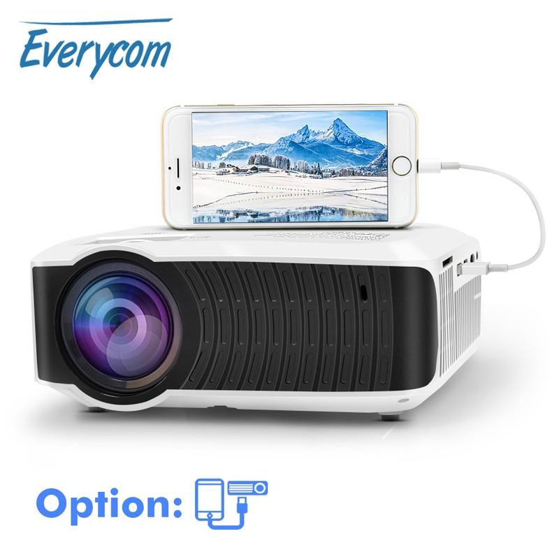 Everycom T4 Mini Projector Inheemse 1280*720 HD LED Video Draagbare Home Theater Beamer Optie Bedrade Sync Display voor iphone Ipad op AliExpress - 11.11_Dubbel 11Vrijgezellendag 1