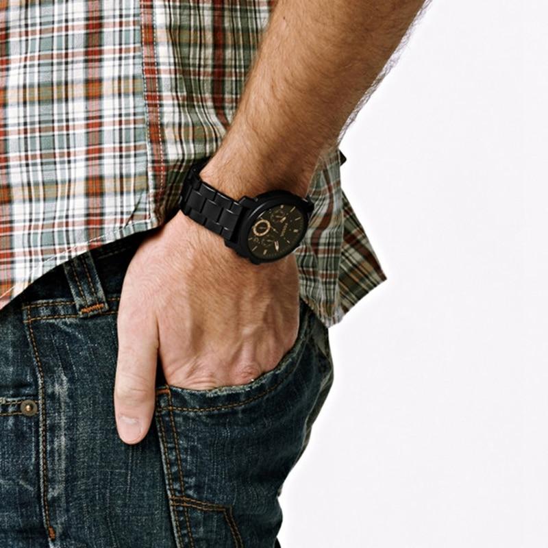 FOSSIL Maschine Mid Größe Chronograph Schwarz Edelstahl Uhr Chronograph Uhr für Männer FS4682P - 2