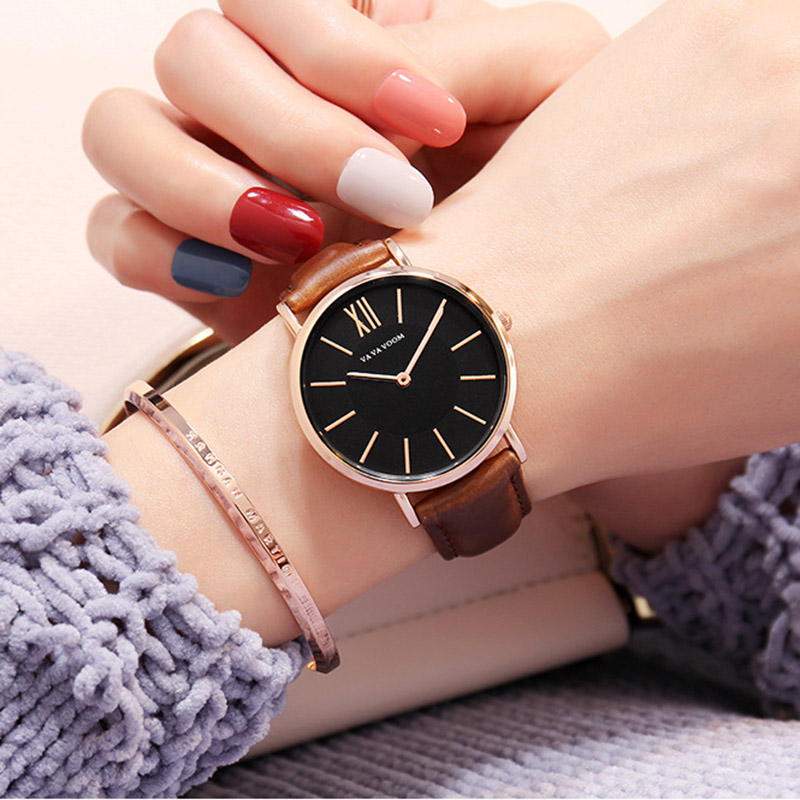Luxury Watch Women Quartz Hannah Martin Minimalist Business Clock For Female Ultra-Thin Classic Black Fashion Trend Reloj Mujer