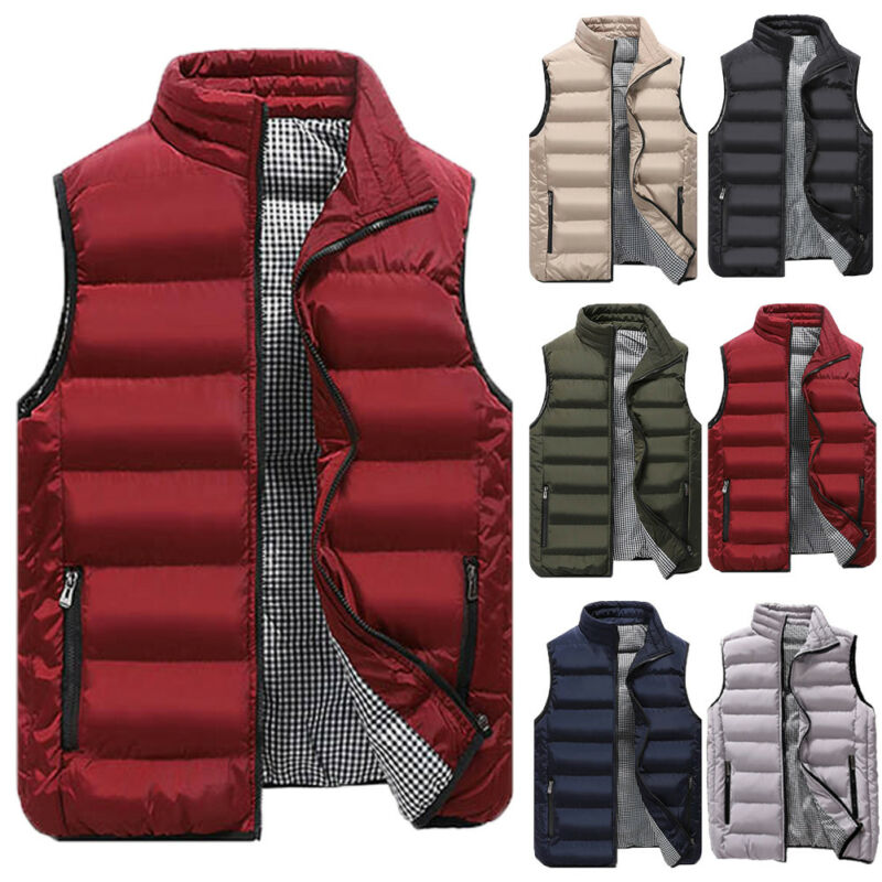 Goocheer Men New Stylish 5 Colors Vest Mens Plus Size 4XL Warm Sleeveless Jacket Men Winter Waistcoat Men's Vest Casual Coats