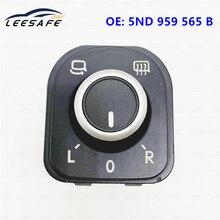 Car Driver Side Mirror Control heating Switch For Passat B6 Golf 5 MK5 6 MK6 Eos Tiguan RABBIT 5ND959565B 5ND 959 565 B