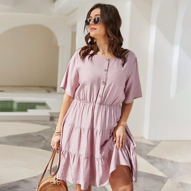 Solid Color Women's  Elegant Dress knee length Skirt 2