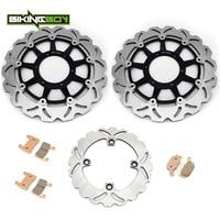 BIKINGBOY For HONDA VTR 1000 SP1 SP 1 2000 2001 VTR 1000 SP2 SP 2 2002 2007 Front Rear Brake Discs Disks Rotors Pads