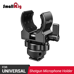 SmallRig Micphonr Mount Camera Clamp Shot gun Microphone Holder (Cold Shoe) fr Video Shooting W/ Built-in soft silicone 2352