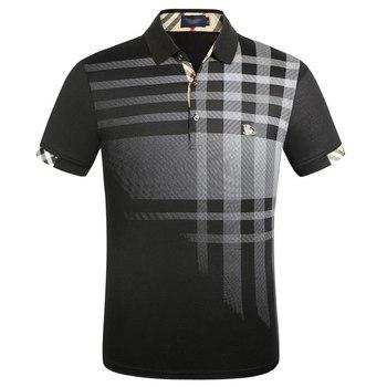 2019 Men New Polo Shirt Brands Short Sleeve Fashion Casual Slim Deer Embroidery Printing Men Polos XXXL