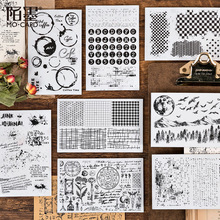 Retro Number Alphabet Stamp Transparent Rubber Seal Clear Stamps for Scrapbooking Grid Stamp Decorative Craft Supplies