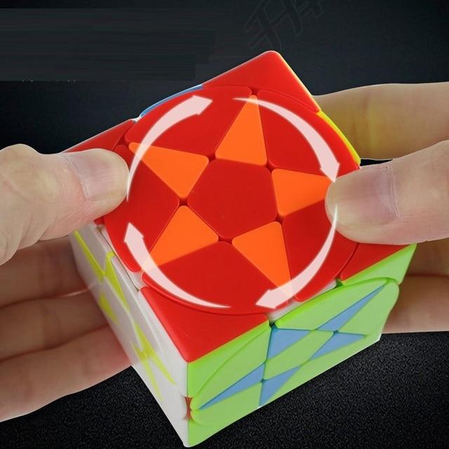 Magic Pentacle Cube Profissional Strange-shape Stars Pentagram Magic Cube Competition Speed Puzzle Cubes Toys For Children Kids 5