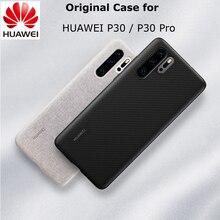 Original HUAWEI P30 P30 Pro Case Official Full Cover Prevents Fingerprints Microfiber Fiber Leather P30  P30 PRO Back Cover
