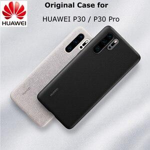Image 1 - Original HUAWEI P30 P30 Pro Case Official Full Cover Prevents Fingerprints Microfiber Fiber Leather P30  P30 PRO Back Cover