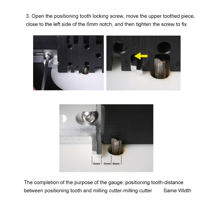 Woodworking Tenon Gauge Template Track Miter Mortise Dovetail Maker Jig Block X7YF
