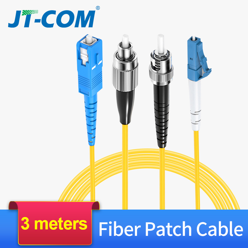 3M Fiber Optic Patch Cable SC/FC/ST/LC UPC Fiber Connector Single Mode Single Core Optical Fiber Patch Cord