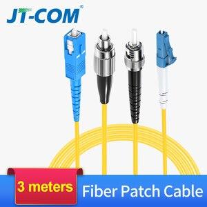 Image 1 - 3M Fiber Optic Patch Cord Sc/Fc/St/Lc Upc Connector Single Mode Single Core Optische fiber Kabel