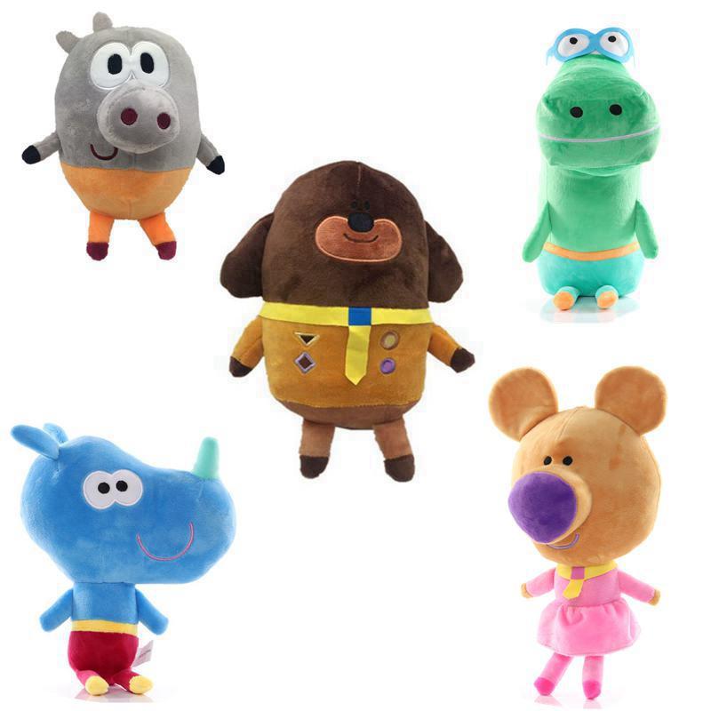 6 Styles 20-30cm  Hey Duggee Stuffed Plush Toys Betty Happy Rhino Doll Birthday  Cute Cartoon Anime  Christmas Gifts for Kids