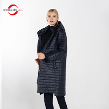 MODERN NEW SAGA Oversized Women Warm Parkas Winter Casual Long Coat Female Solid Overcoat Full Pockets Zippers Jacket