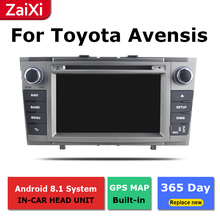 ZaiXi android car dvd gps multimedia player For Toyota Avensis 2009~2015 car dvd navigation radio video audio player yessun for toyota prado 120 2004 2009 android car gps navigation dvd player multimedia audio video radio multi touch screen