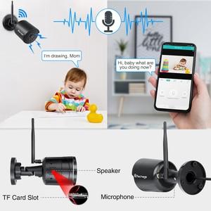 Image 5 - Techage wifi IP caméra extérieure 1080P étanche 2.0MP sans fil caméra de sécurité deux voies audio TF carte enregistrement Onvif Surveillance