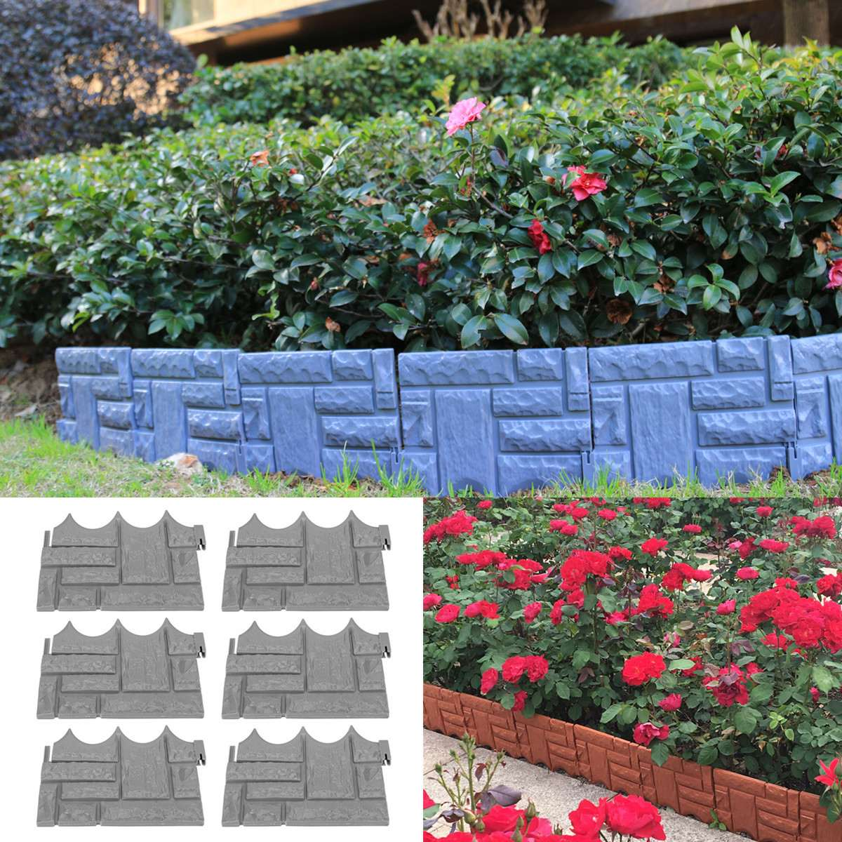 Pcs Decorative Garden Fence Outdoor