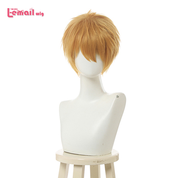 L-email wig Toilet-bound Hanako-kun Minamoto Kou Cosplay Wig Short Yellow Men Wigs Heat Resistant Synthetic Hair Anime - discount item  35% OFF Synthetic Hair