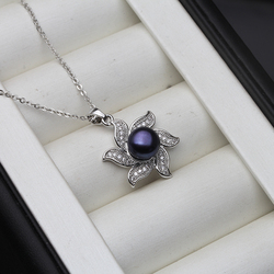 Wedding Genuine Freshwater Pearl Pendants 925 Sterling Silver Necklace For Women Wholesale Natural Pearl Jewelry