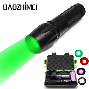 100% Authentic 878 1000 Lumens T6 Red/Green/White/IR/ LED Flashlight Zoomable flash Torch +1*26650 battery charger+box image