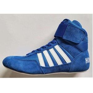 Zapatos de lucha para hombre y mujer, zapatillas de deporte unisex, de goma, de cuero artificial, para entrenamiento profesional, boxeo, 2020