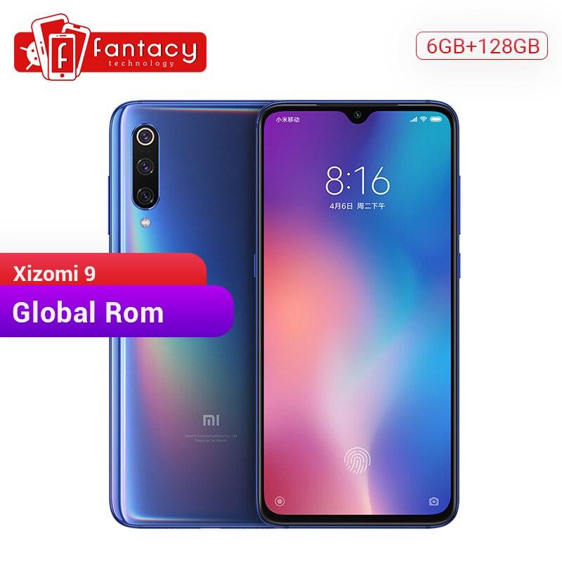 "Rom global xiao mi 9 mi 6 gb 128g snapdragon 855 octa núcleo 6.39 ""amoled fhd + display smartphone 48mp triplo câmeras nfc"