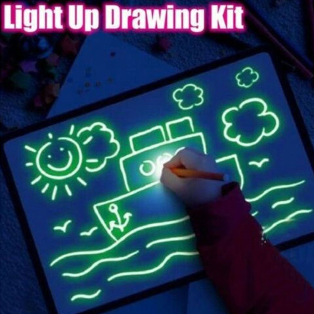 Children Painting Board Luminous Board Kids Glowing Graffiti Fluorescent Board 3D Drawing Board New Gift For Baby Toy