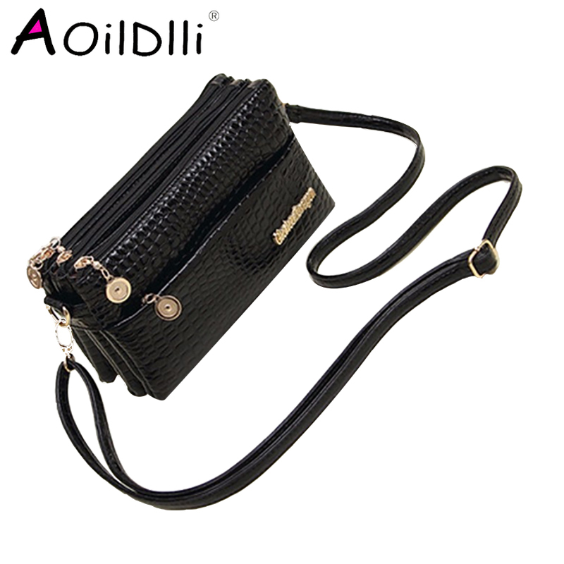 Hot Sale Handbag New Fashion 2017 Small Shoulder Bag Crocodile Pattern Bag Women Messenger Bags for Women B005|messenger bags for...