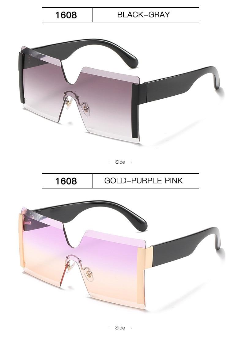 Luxury Brand Women's Sunglasses Square Sunglass Lady Designer 2021 trend Cool Vintage Retro Sun Glasses Rimless Shades For Women (11)
