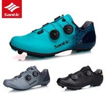 5 סגנון SANTIC רכיבה על אופניים נעלי פחמן סיבי בלעדי פרו כביש אופני MTB נעלי רכיבה גברים האולטרה לנשימה ללבוש עצמי נעילת נעליים