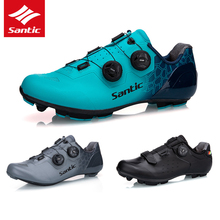 5 Style SANTIC Cycling Shoes Carbon Fiber Sole Pro Road Bike MTB Cycling Shoes Men Ultralight Breathable Wear Self Locking Shoes
