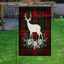 Christmas deer Burlap Garden Flags Double Sided Flags Merry Christmas decoration for home Winter Signs Rustic Banner