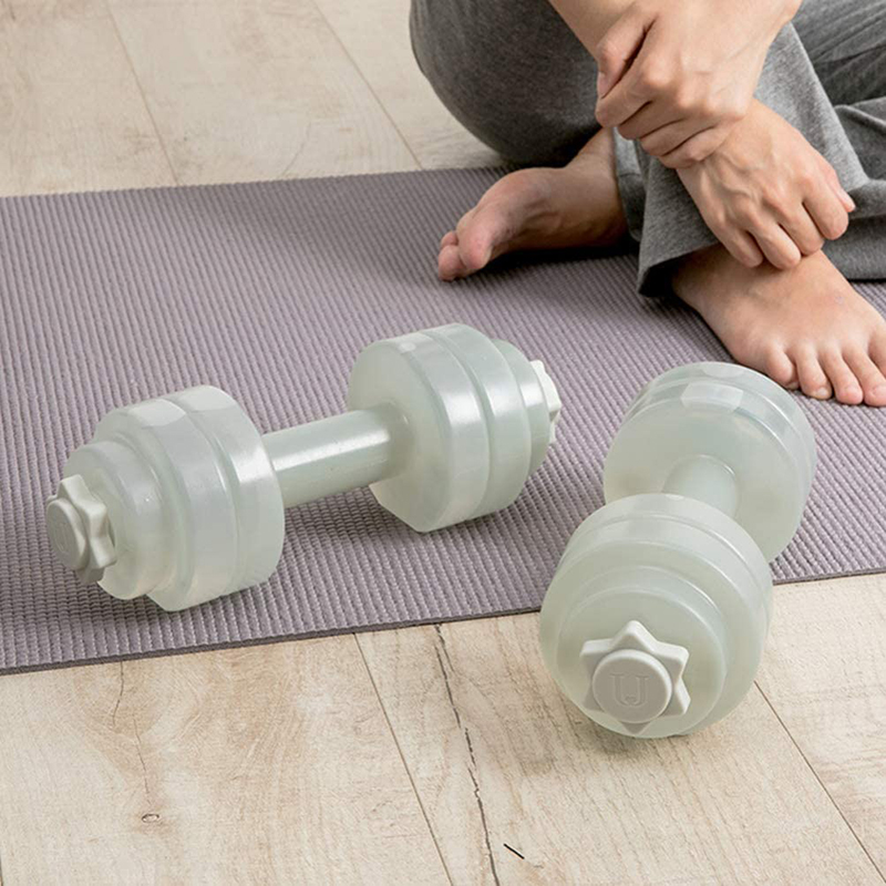 Weight Dumbbells Fitness Gym Equipment Cross Fit Yoga Training Sport Plastic Exercise Loss Slimming Weight-adjustable Dumbbell