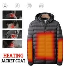 4 зоны нагрева USB Инфракрасный нагревательный жилет водонепроницаемая куртка зимняя туристическая теплая одежда жилет для мужчин и женщин флисовая куртка