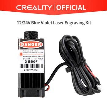 High-Power 12V/24V Blue Violet Light Laser Engraving Laser With Focusing For CREALITY 3D Mini Laser Engraving 3D Printer недорого