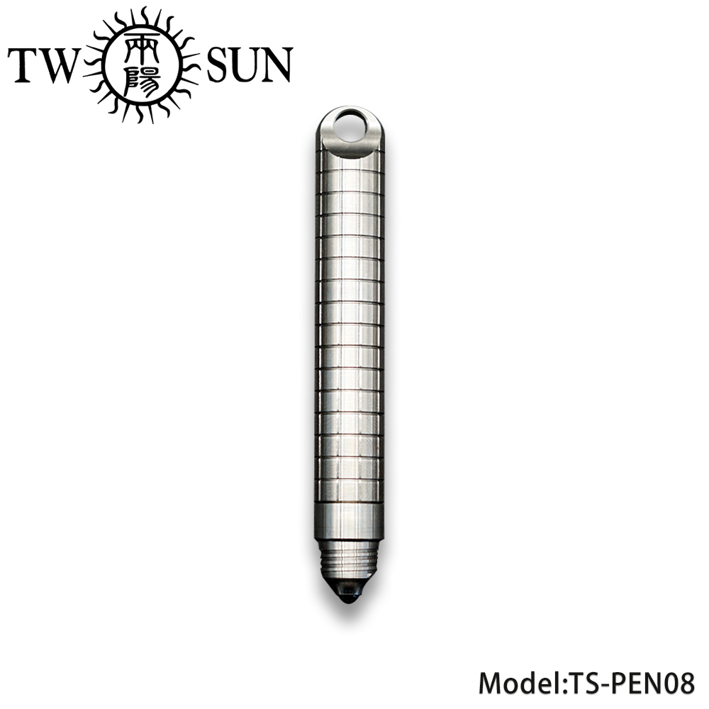 TWOSUN Mini Titanium Alloy Lock Key Ring Pen Self Defense Personal Tactical Multi-tool Outdoor Tool Broken Window Pen TS-PEN08