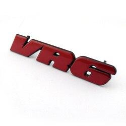 Rot VR6 Auto Vorne Grill Abzeichen Emblem Aufkleber Golf3 Aufkleber MK3 Grille Logo für Passat