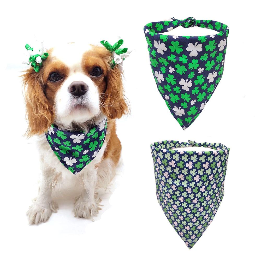 Patricks Day Florals Bandana  Pet Bandana  Dog Scarf  Pet Scarf  Flower Print Bandana  Tie on Snap On St