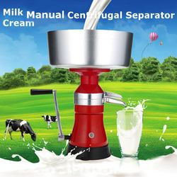 80L/h elektryczny mleko separator śmietanki s mleka i separator śmietanki świeże mleko szumiące maszyna do wirówki separator śmietanki w Ręczne separatory śmietanki z mleka od Dom i ogród na