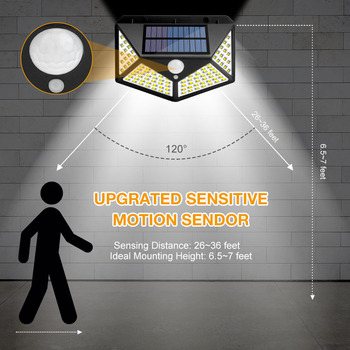 Outdoor LED Solar Light Motion Sensor Waterproof Sunlight Garden Decoration Street Lights Solar Powered  Lantern Wall Lamp 2