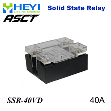 цена на 40A SSR,input DC 0-10V single phase ssr solid state relay voltage regulator