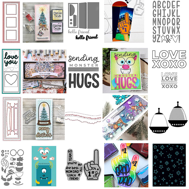Rectangle Stitched Frames Scallops Banners Scenic Borders Envelope Monster Slimline Cutting Dies For DIY Scrapbooking Cards 2020