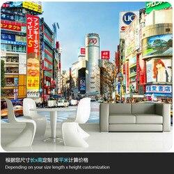 زاوية شارع طوكيو ثلاثية الأبعاد صور جدارية خلفيات ل مقهى قاعة مطعم بار كبير الصناعية ديكور ورق حائط الخلفية